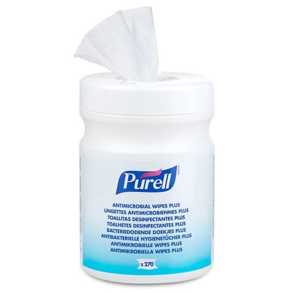 PURELL® Antibakterielle Hygienetücher Plus, 270 Tücher Dose